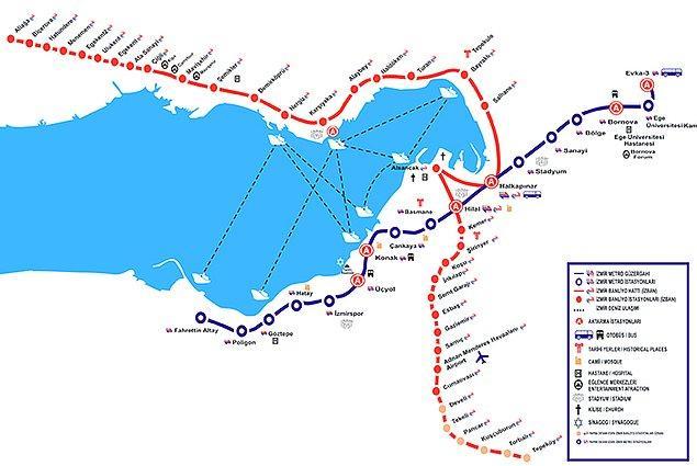 6. Düzgün çalışan, aksamayan, kentin ana noktalarına uzanan sistemli bir metro hattı.