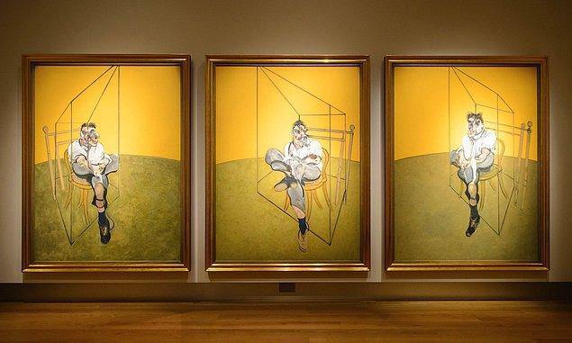 Francis Bacon, Three studies of Lucian Freud, 1969, tuval üzerine yağlı boya, 198x147.5 cm (her parça)