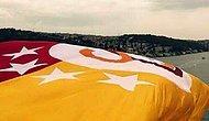 Köprülere Galatasaray Bayrağı Asıldı