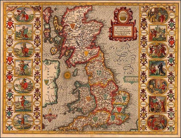 1. Yedi Krallık: Heptarchy (Britanya'daki 7 krallık)