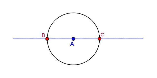 15. A merkezli çemberde  çap hangi iki nokta arasındaki doğru parçasıdır?