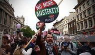 İngiltere'de On Binlerce Kişi 'Kemer Sıkmaya Hayır' Dedi