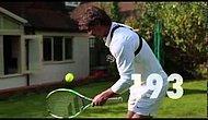 Tenis Raketinin Kenarı ile Top Sektirme Rekorunu Kırdı