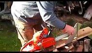 Elektrikli Testere ile Farklı Odun Kesme Yöntemi