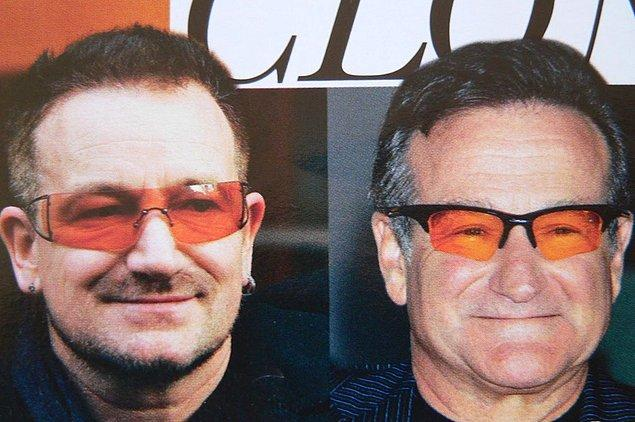 9. Bono & Robin Williams