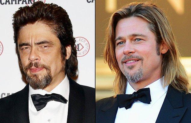 13. Benicio Del Toro & Brad Pitt