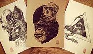 Çıkardığı Kafataslarıyla Aklınızı da Başınızdan Çıkaracak Sanatçıdan 24 Vay Anasını Çizim