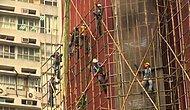 Hong Kong'da Bambudan  Yapılan İskele