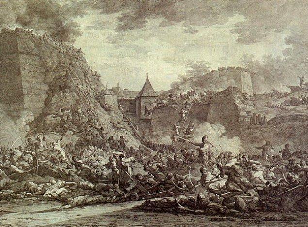 6. Sonradan nehri geçen bir başka Avusturya piyade kolu, Hussarların bu içki partisine katılmak ister.