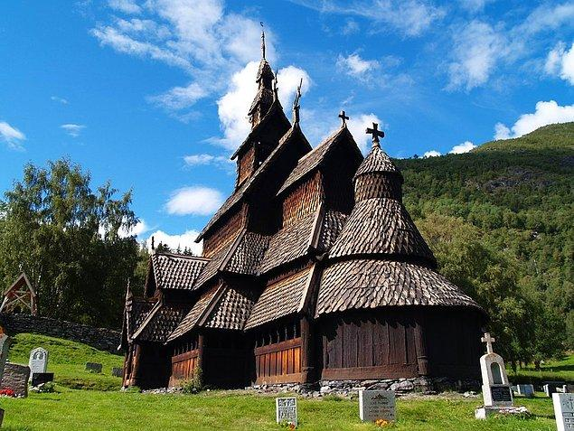 6. Borgund Stavekirk, Norveç