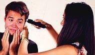 Kızlar Erkek Arkadaşlarının Saçını Kesiyor