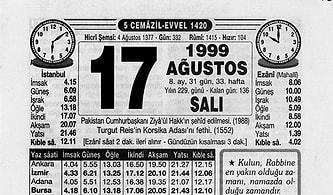 17 Ağustos 1999 Depreminin Ardından Atılan Gazete Manşetleri