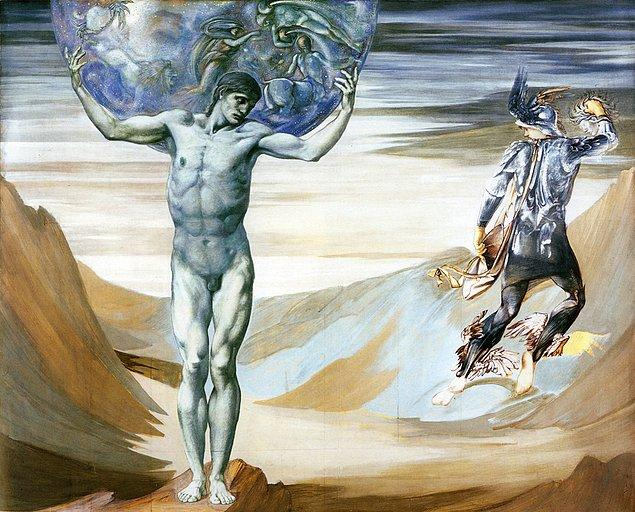 10. Herakles sütunların omzundan kaydığını ve düzeltmek bahanesi ile yükünü bir süre için Atlas'a devretmeye teklif eder.