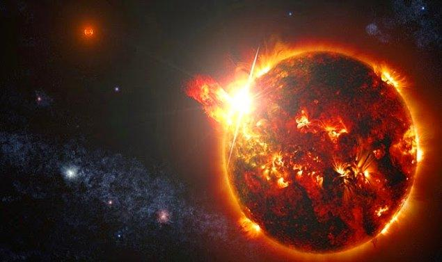 9. Şimdiye kadar tespit edilen en sıcak yıldız patlaması Dünya'dan 60 ışık yılı uzaklıktaki küçük bir yıldızın yüzeyinde gerçekleşti. Güneş'in çekirdek sıcaklığından 12 kat daha güçlü olan patlamaların sıcaklığı 200 milyon dereceyi bulmuştu.