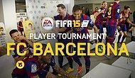 Barcelona'lı oyuncuların oynadığı acaip eğlenceli FIFA15 maçı