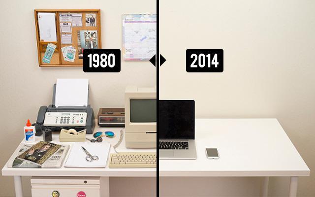 Как за 34 года поменялся рабочий стол