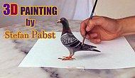3 Boyutlu Gerçekçi Güvercin Çizimi
