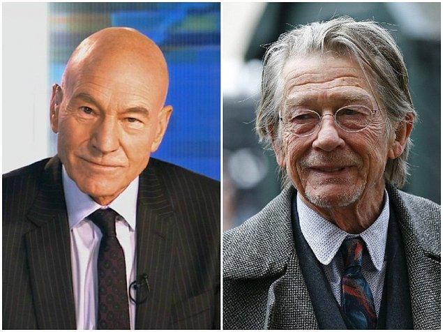 Патрик Стюарт и Джон Хёрт, 74 года.