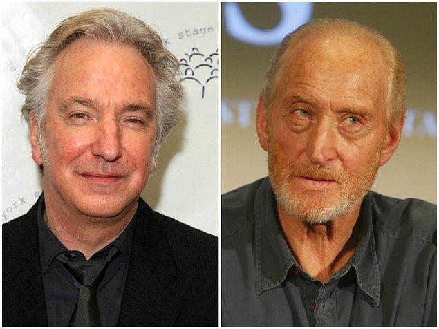 Алан Рикман и Чарльз Дэнс, 68 год.