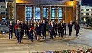 AB Büyükelçilerinden Ankara Tren Garı'na 97 Karanfil