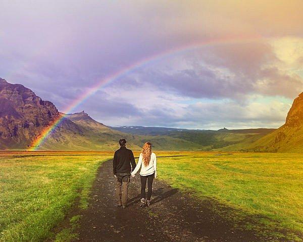 На пути встречалась радуга, приносящая удачу.