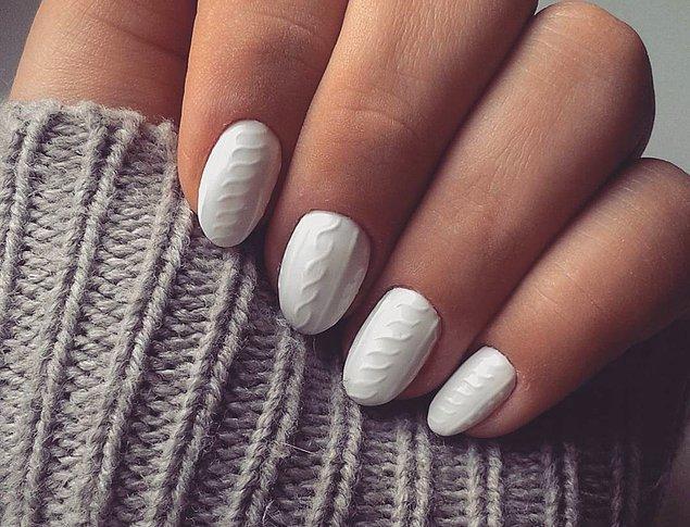 «Вязаные» ногти – новый тренд, покоривший Инстаграм! Как раз к сезону.
