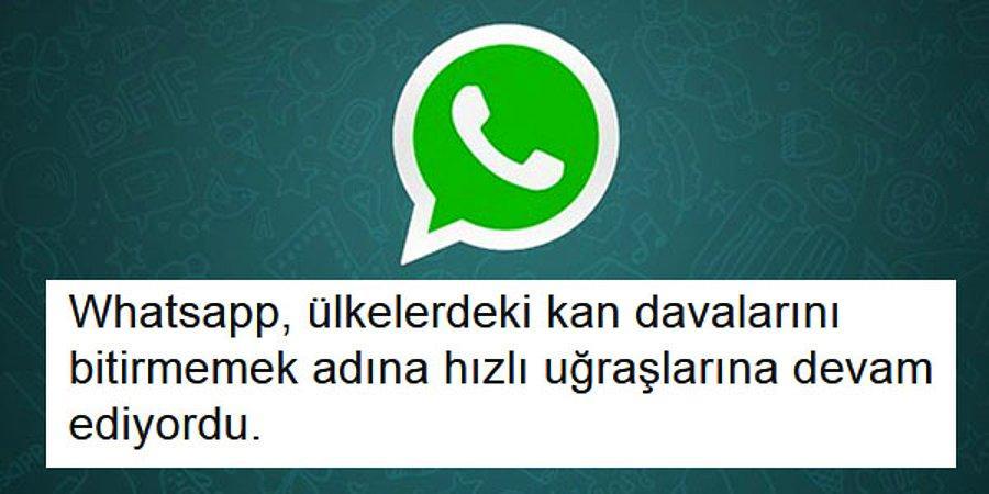 WhatsApp'ın Yeni