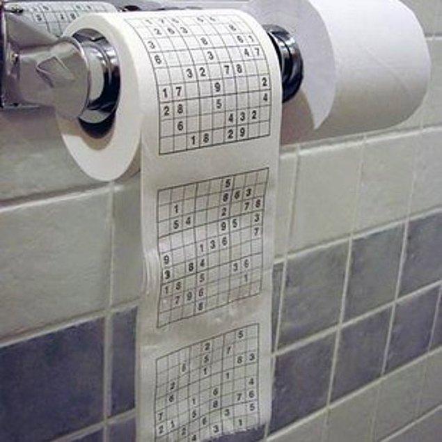 Туалетная бумага с судоку.