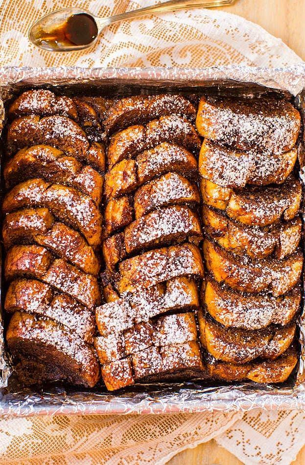 Имбирные французские тосты, запеченные в духовке.