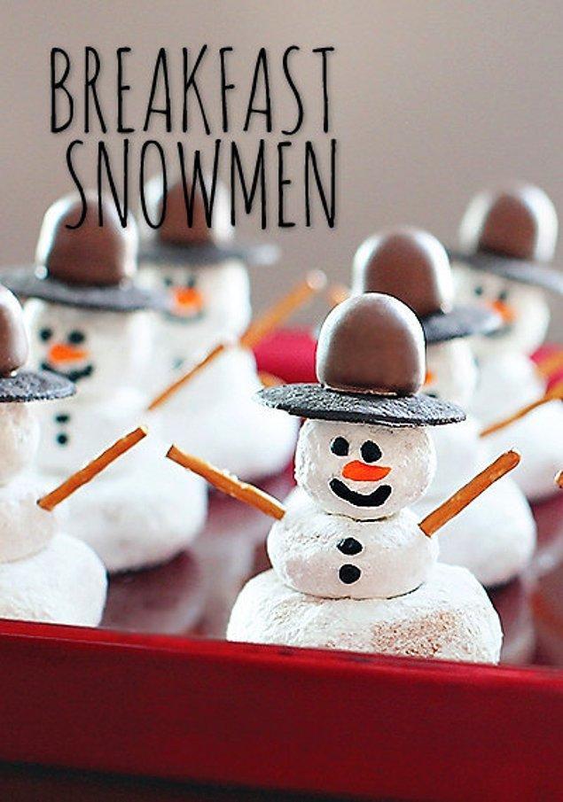 Снеговик на завтрак.