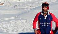 İngiliz Dağcı Simon Becker'ın Yoğun Çaba Gerektiren Kar Sanatı