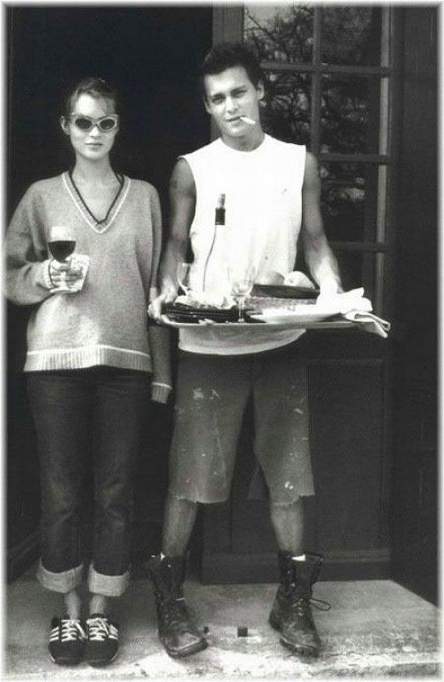 18. Johnny Depp ve Kate Moss.