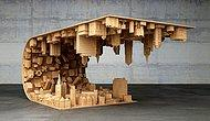 Inception'ın Nefes Kesici Sahnesini Salonunuza Taşıyan Tasarım: Sanat Eseri Gibi Masa!