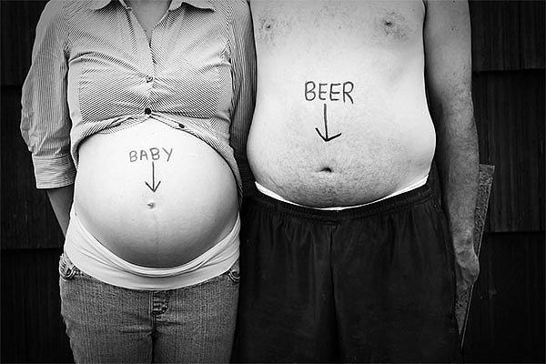 Ребенок и пиво.