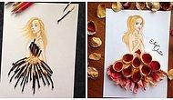 """Çizimlerini Akla Gelmez Şeylerle Tamamlayan Sanatçıdan """"Yok Artık"""" Dedirten 20 Tasarım Elbise"""