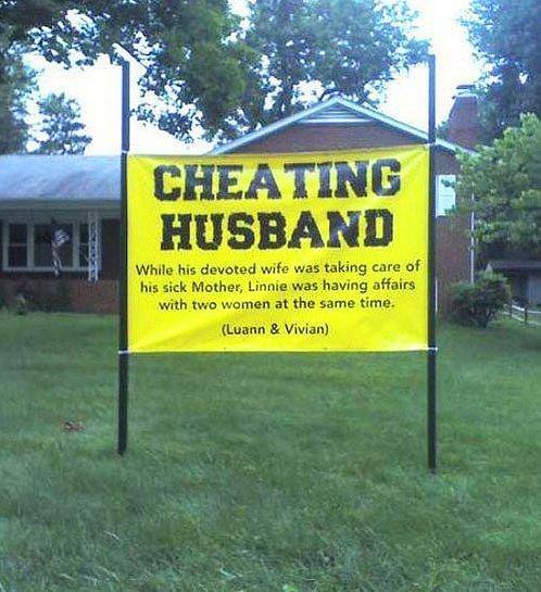 Кто-то решил просвятить в детали соседей с помощью объявления в саду дома...