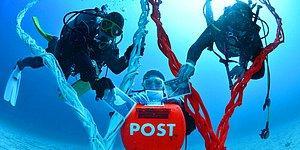 Japonya'da Denizin 10 Metre Altında Bulunan Posta Kutusu