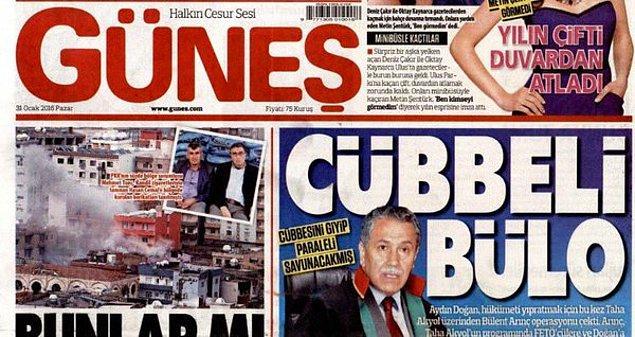 Ertesi gün AKP'ye yakın basın da Bülent Arınç'a yüklendi.