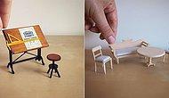 Minyatür Mobilyalar Yapmak İçin İşi Bırakan Bir Avukatın 24 Minik Eseri