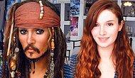8 Dakikada Jack Sparrow'a Dönüsen Kız