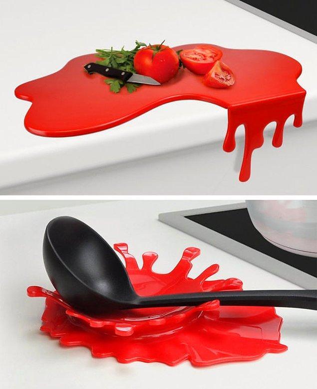 8. Sıçrayan domates sosu