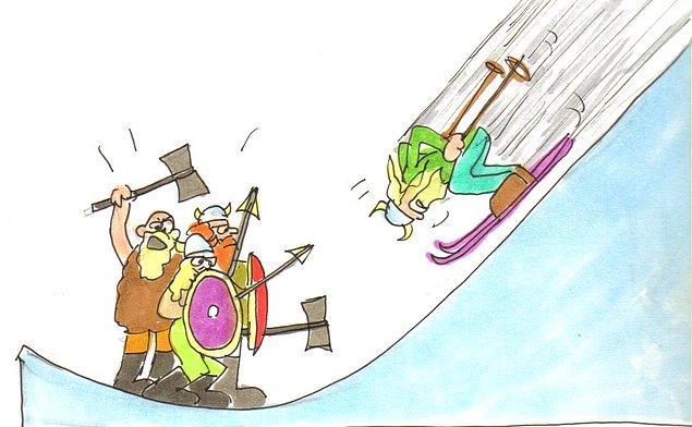 12. Tarihte bilinen ilk kayakçılar Vikinglerdi