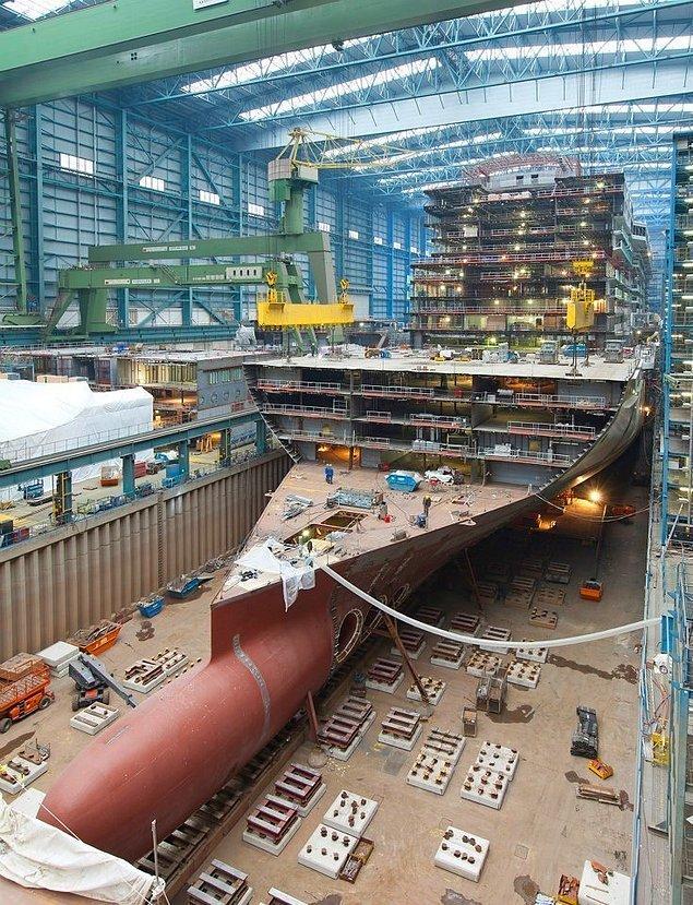 9. Bir cruise gemisinin yapım süreci