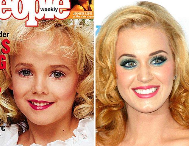 Katy Perry ve JonBenet arasındaki benzerliği gören bazı kişiler, küçük kızın ölmediğini, kaçırıldığını ya da bir nedenden saklandığını ve onun şimdilerde Katy Perry olduğunu iddia ettiler.