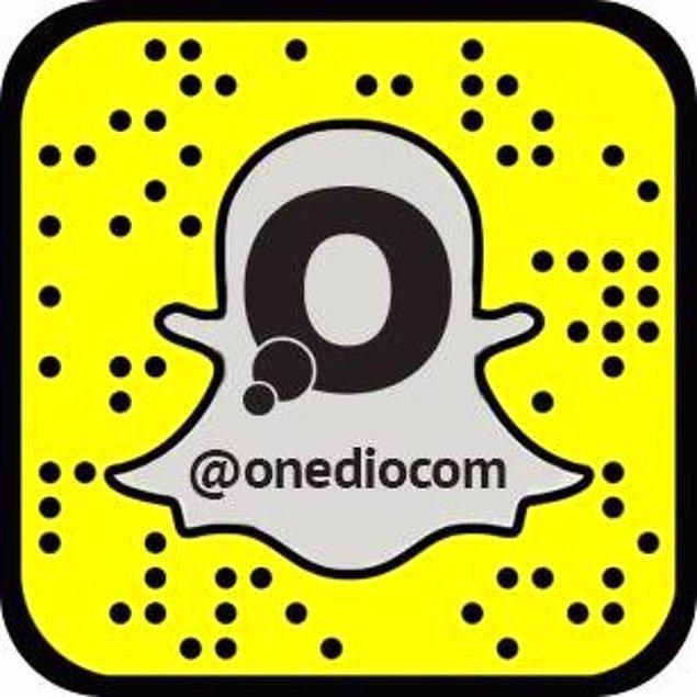 Tabii Snapchat demişken bizi de takip edebilirsiniz @onediocom 😊😍
