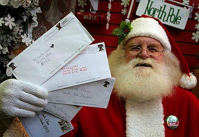 """Her yıl, noelde Kanada'da """"Noel Baba"""" ismine 1 milyon mektup postalanır."""