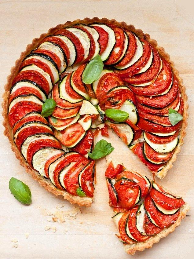1. Domatesli, Patlıcanlı Tart