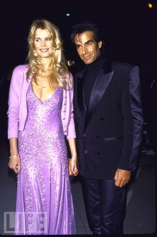 7. David Copperfield ve Claudia Schiffer, 1995