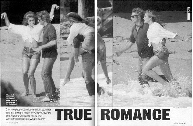 11. Richard Gere ve Cindy Crawford, 1993