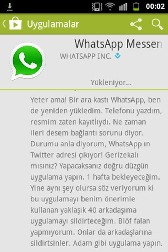 13. Whatsapp protestosu